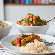 Quick Moroccan Chicken Thighs Over Couscous