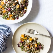 Wild Rice Salad with Cherries, Mint and Feta