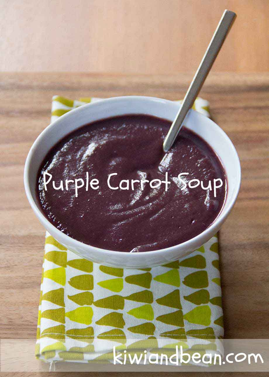 Purple Carrot Soup by KiwiandBean.com