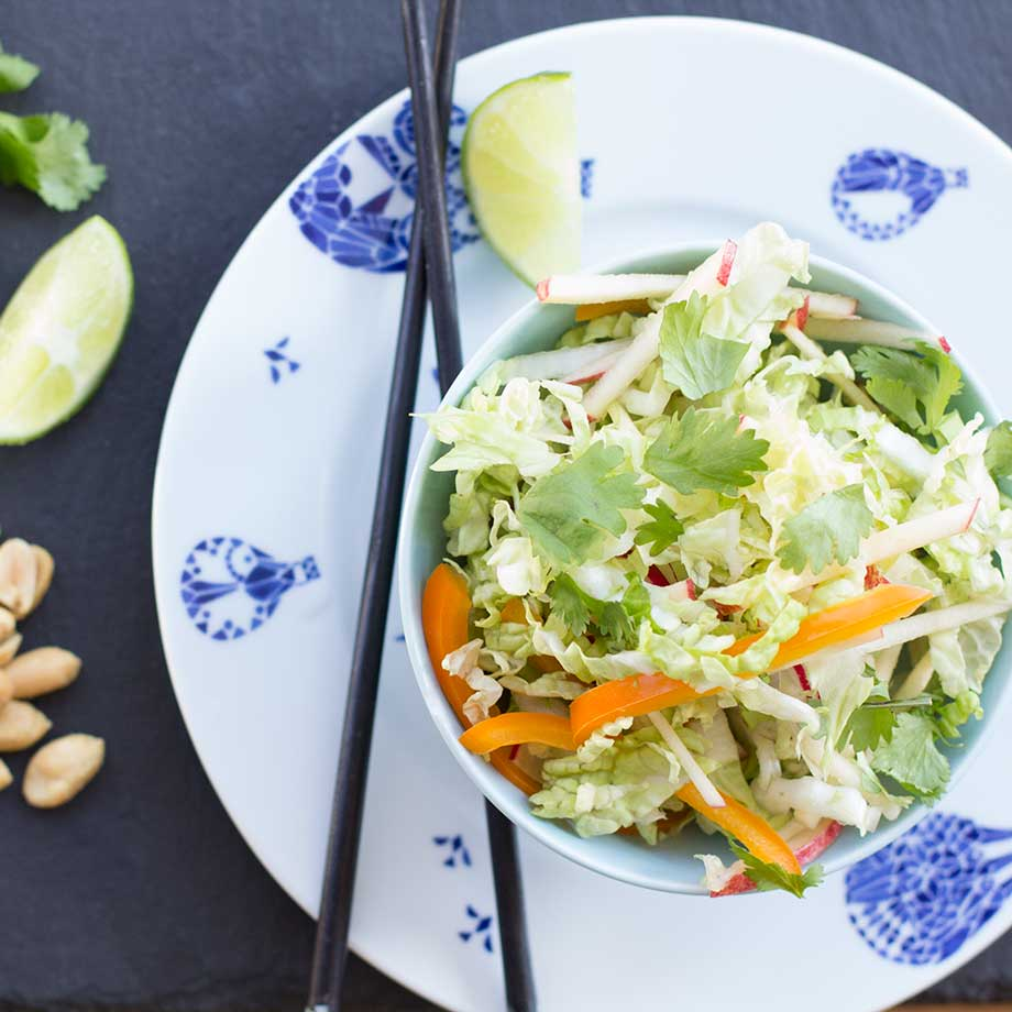 Napa Cabbage Slaw | (Cooking for) Kiwi & Bean