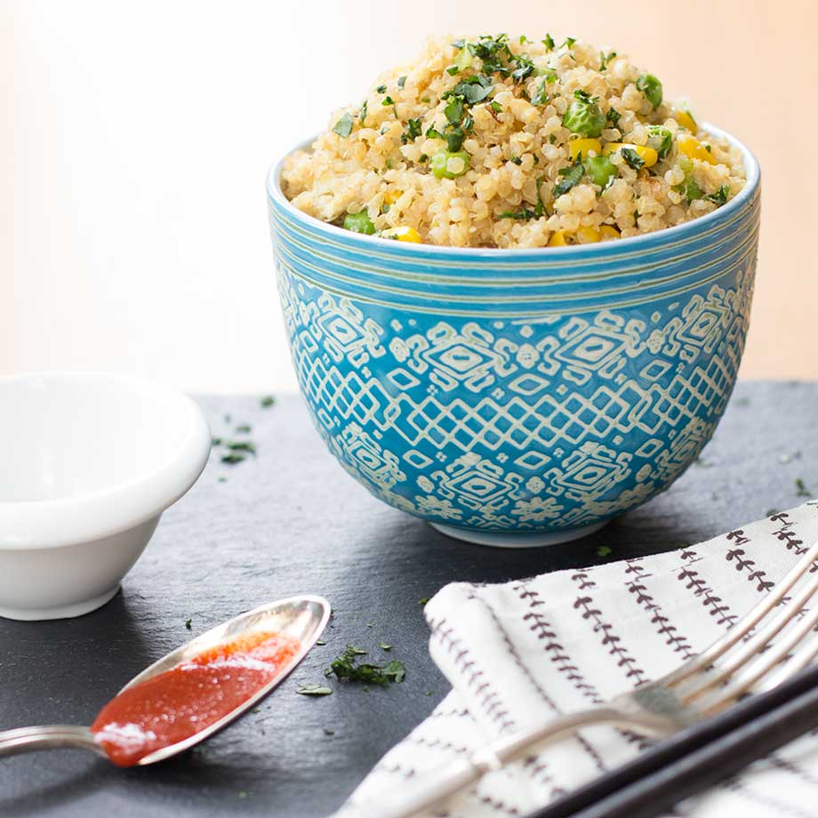 Quinoa Fried Rice | www.kiwiandbean.com