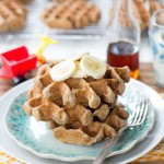 Make-Ahead Breakfast: Whole Grain Banana Oatmeal Waffles