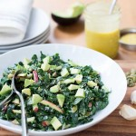 Kale Salad with Apple, Avocado, Parmesan & Honey Mustard Vinaigrette