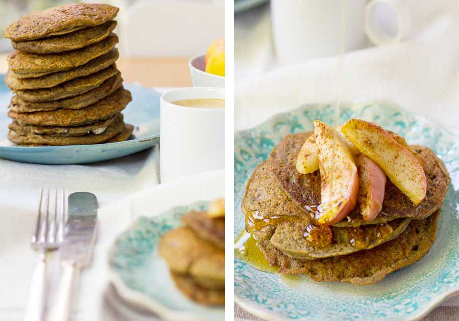 Pumpkin Pie Buckwheat Pancakes | (Cooking for) Kiwi & Bean