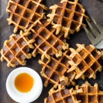 One Bowl Oatmeal Applesauce Waffles