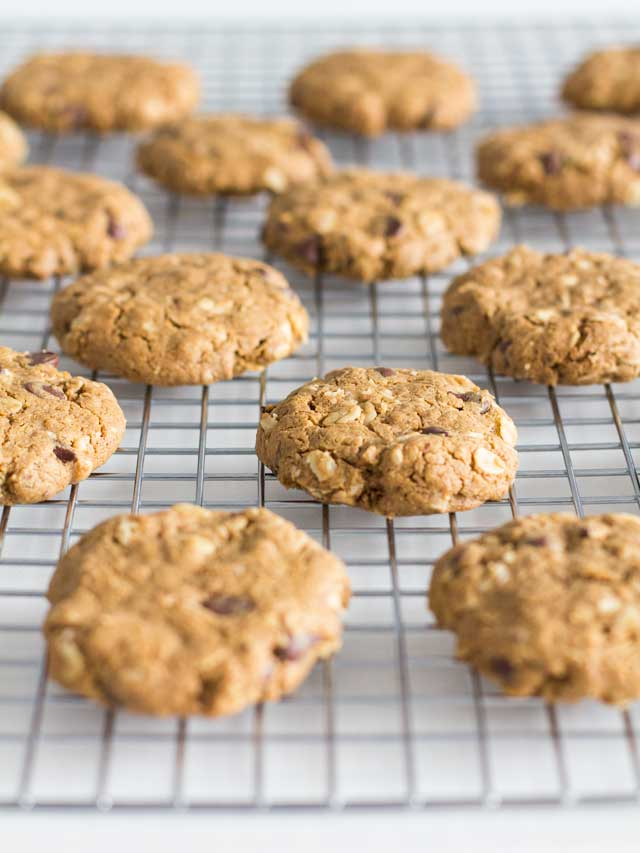 Peanut-Free Peanut Butter Oatmeal Chocolate Chip Cookies