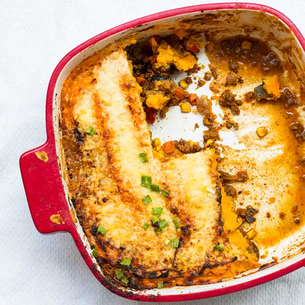 Tex Mex Sweet Potato Shepherd's Pie | www.kiwiandbean.com
